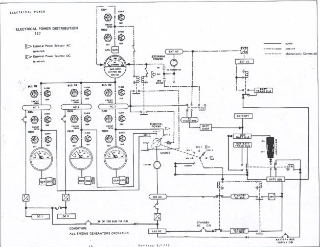 b 727 electrical power distribution boeing 727 electrical power distribution schematic for flight crew training